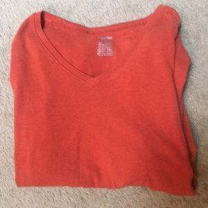 ✨ Cherokee V-Neck Child's Shirt Orange Soft XXL
